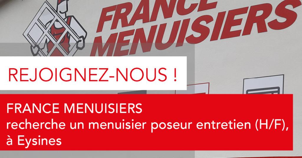 offre d'emploi France Menuisiers