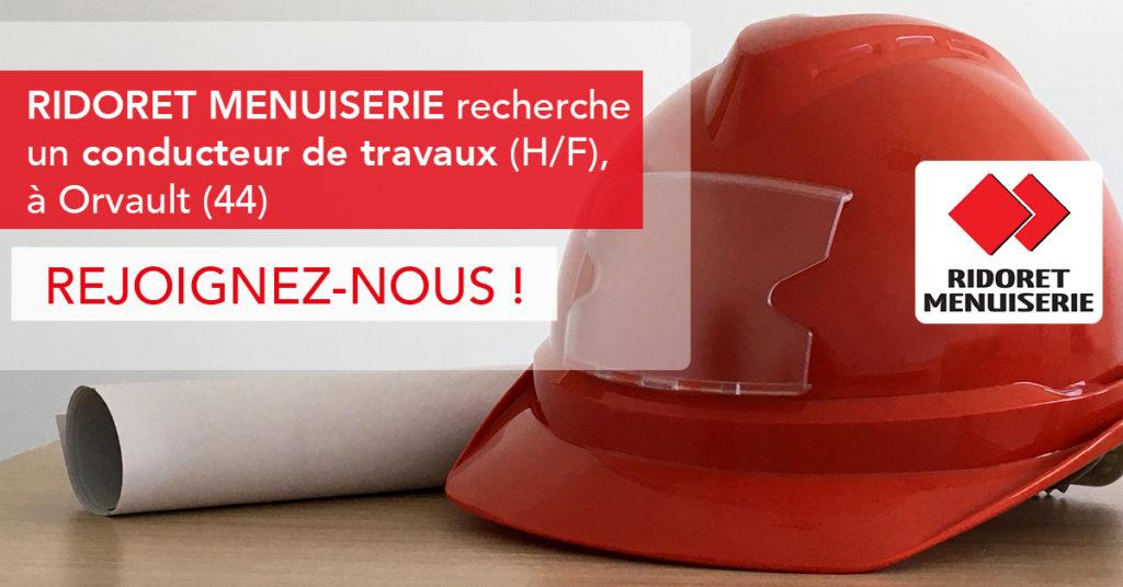 casque de chantier rouge - Ridoret Menuiserie